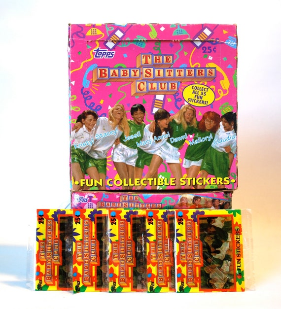 4 Baby Sitters Club Sticker Packs by Topps