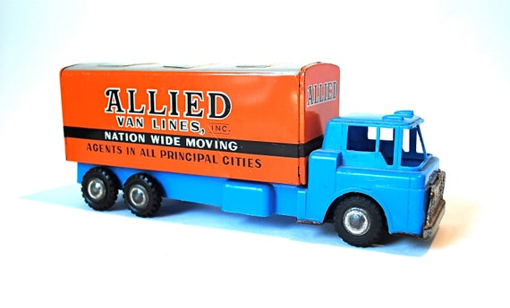 Allied Tin Friction Moving Van Made in Japan