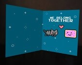 Nyan Cat Valentine's Day card template (digital card)