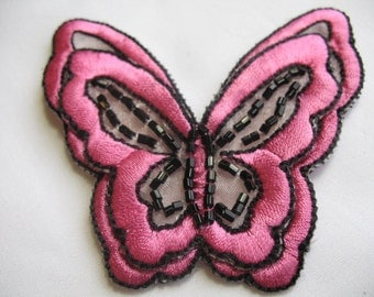2 EMBROIDERD BUTTERFLY   .