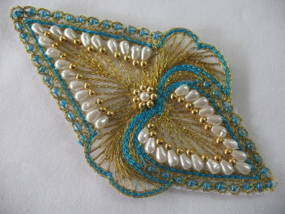 sew on BEADED   APPLIQUE.