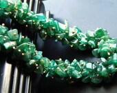 Custom order. 2 sets necklace earrings. Green Aventurine.  Peridot.