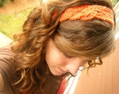 Knotted Crocheted Headband - Your choice of COLOR