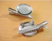 100pcs 20mm nickel free metal Hair Clip Brooch Pin Backings