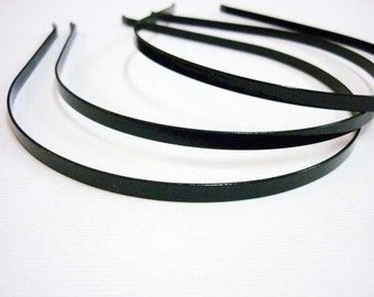 50pcs 4mm Finished stainless steel Antique Black Headbands Hairbands