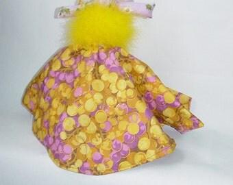 Springtime Reversible Doll, Topsy Turvy Doll, ragdoll, cloth doll