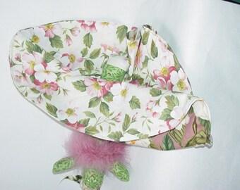 Floral Reversible Doll, Pink Floral Topsy Turvy Doll, ragdoll, cloth doll