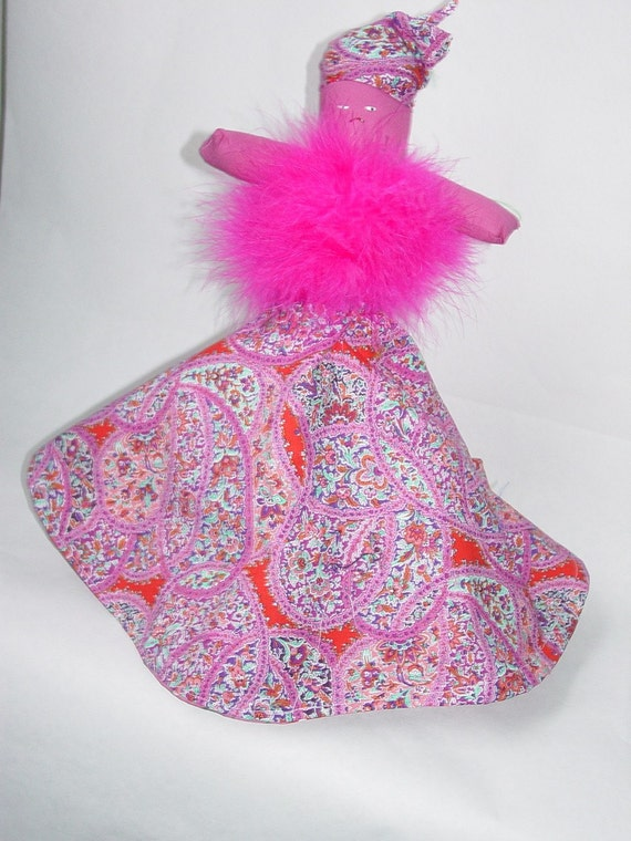 OOH LA LA Reversible Doll, Pink Topsy Turvy Doll, Ragdoll, cloth doll