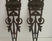 ANTIQUE ORNATE HINGES architectural salvage,fabulous shabby chic, assemblage