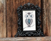 The Lovely Owl (mini, framed)