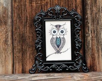 The Lovely Owl (mini, framed)