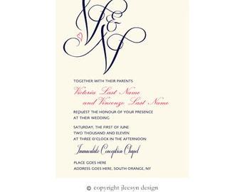 Custom Wedding Invite (Digital File) for Aleisha
