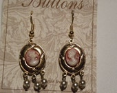 Victorian Cameo Earrings available in silver or gold Downton Abbey