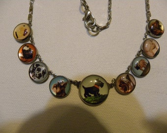 Whimsical DOG LOVERS BUTTON Necklace  Treasury List