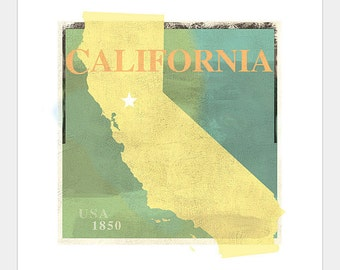 California Art Print -11x14 or 16x20 -