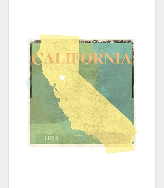 California Art Print -11x14 or 16x20 -