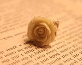 Holiday CLEARANCE Small Light green rose Adjustable filigree ring