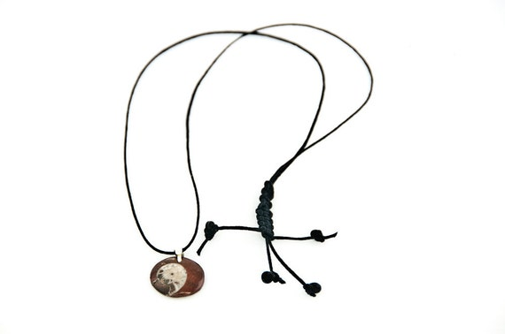 Fossil Real Ammonite Fossil Shell Pendant Necklace For Him
