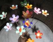 Copper Enamelled Flowers