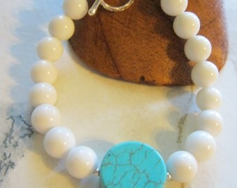 White Mountain Jade And Turquoise Bracelet