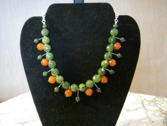 Carnelian and Jade Necklace