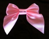 Naughty Hair Bows- pink or red