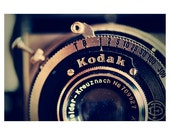 kodak camera photo print - whimsical fine art photography, nostalgic, lens, icon, metal, light, reflection, number, letter - 10x8 - IN STOCK