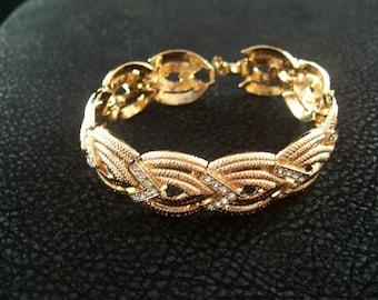Hobe' Rhinestone Bracelet Vintage  High Fashion Hollywood Mad Men Rat Pack
