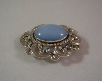 Danecraft Art Nouveau Sterling Silver Brooch