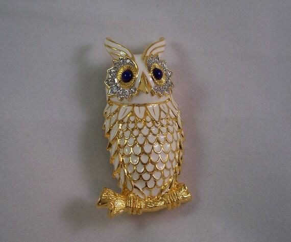 Kenneth J Lane Night Owl Brooch