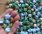 US Wall Map Upcycled Origami Stars, set of 90.