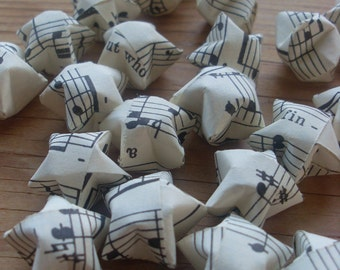 Handel's Messiah Origami Stars, set of 24.  Classical Music.  Christmas Music.