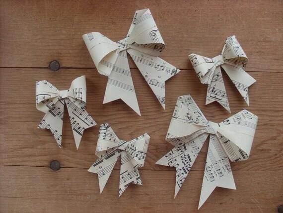 20 Handmade Gift Bows, Vintage Handel's Messiah.