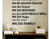 Wall Decal quote -  IN THIS HOME - Vinyl Wall Art Quote