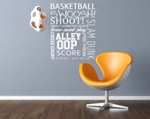 Vinyl Wall Decal - Basketball quote - Vinyl Wall Art Quote - sport decals
