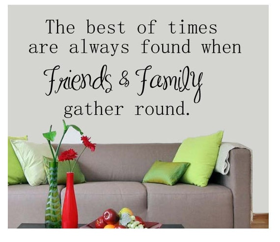 Family Friends Wall Decor : Items similar to wall art friends and family quote on etsy