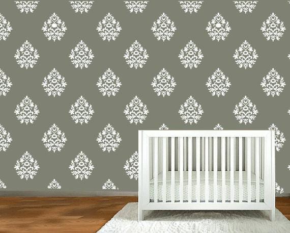 Captivating Vinyl Wall Decals Scroll Damask Wall Pattern U2013 18 Graphics  10026, Vinyl  Wall Graphics Part 15