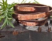 Bracelet with Names . Mom bracelet . New mother gift . Kids names jewelry . Custom bracelet leather . Kids Names Bracelet