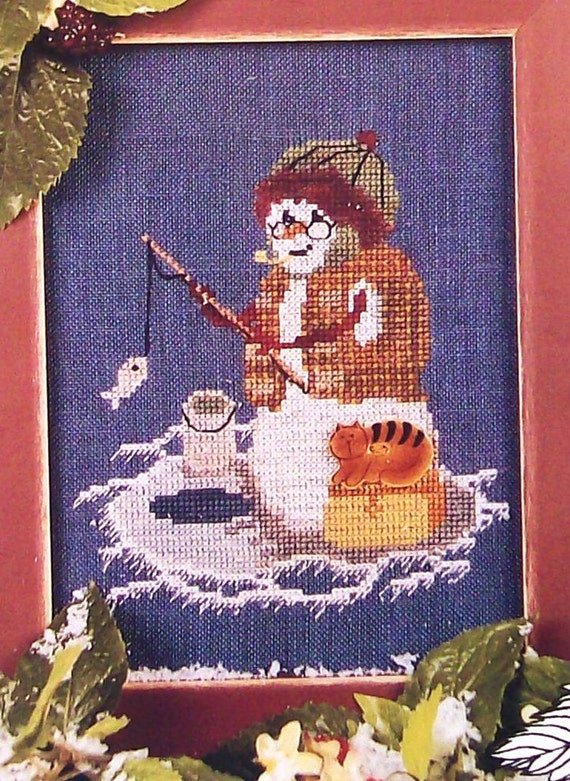 "Raspberry Patch Design Studio ""ONE SNOWMAN'S Family"" Series  - Counted  Cross Stitch Pattern Chart - Gramps Grandpa"