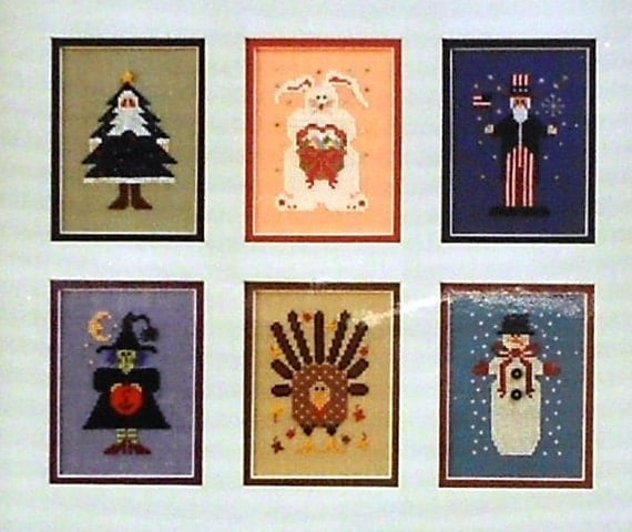 The Drawn Thread KINDERED SPIRITS Holidays & Occasions - Counted Cross Stitch Pattern Chart - 6 individual Designs