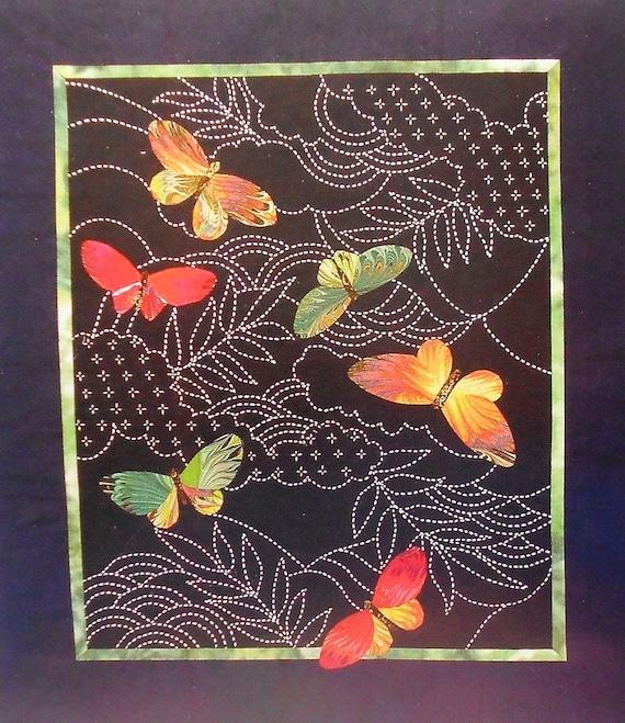 Sylvia Pippen Butterflies Amp Sashiko Japanese Quilt Wall