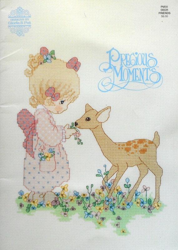 Gloria Amp Pat Precious Moments Deer Friends Counted Cross