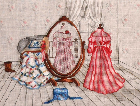 Vintage Paula Vaughan Vaughn REFLECTIONS OF The PAST - Counted Cross Stitch Pattern Chart