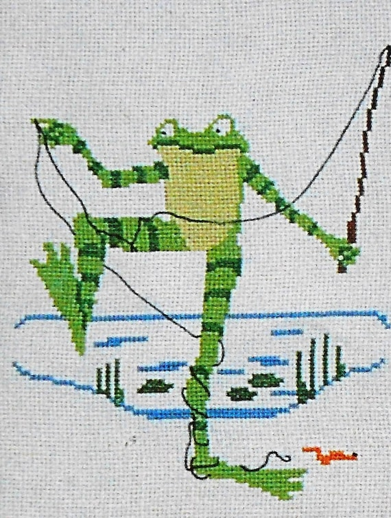Rare Vintage 1980 THE FROGS Of Dave Garlick By Banar Designs Presents - Counted Cross Stitch Pattern Chart