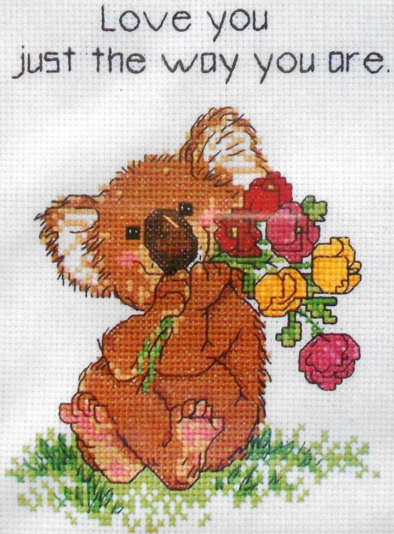 Adorable Suzys Suzy's Zoo Just THE WAY YOU Are Counted Cross Stitch Pattern Chart Kit By Janlynn
