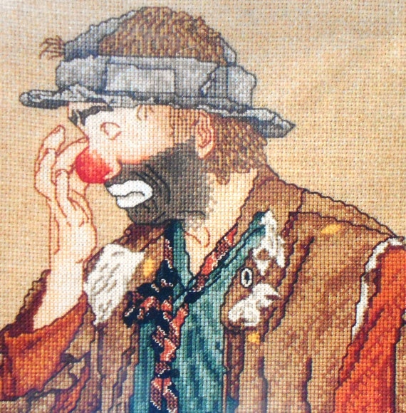 Emmett Kelly Jr. Collector Series TEARS the CLOWN Judith Lynn Gauthier Designs - Counted Cross Stitch Kit