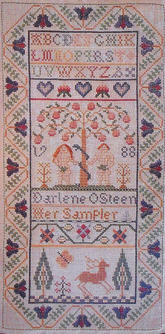 The needle 39 s prayse the garden of eden sampler counted for Garden of eden xml design pattern