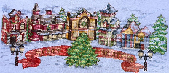 Mike Vickery MERRY CHRISTMAS VILLAGE - Counted Cross Stitch Pattern Chart - mag
