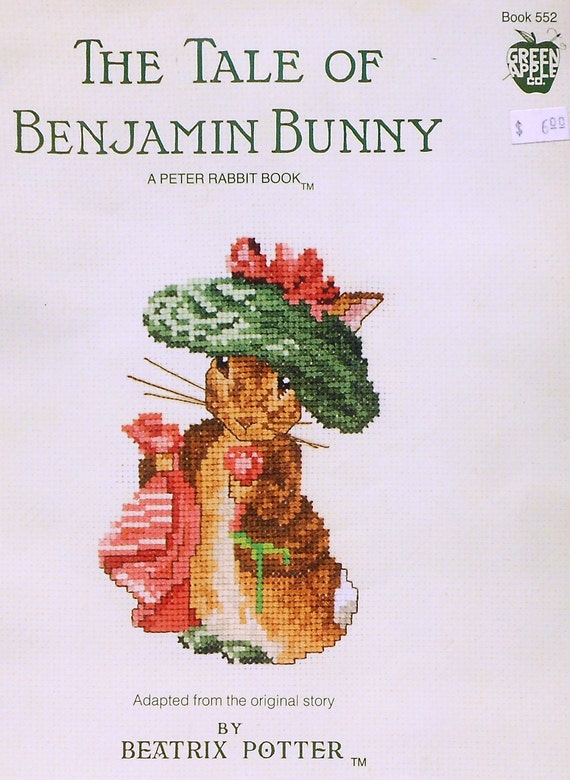 Beatrix Potter The Tale Of BENJAMIN BUNNY Peter Rabbit - Counted Cross Stitch Chart Pattern Booklet - By Green Apple Co.