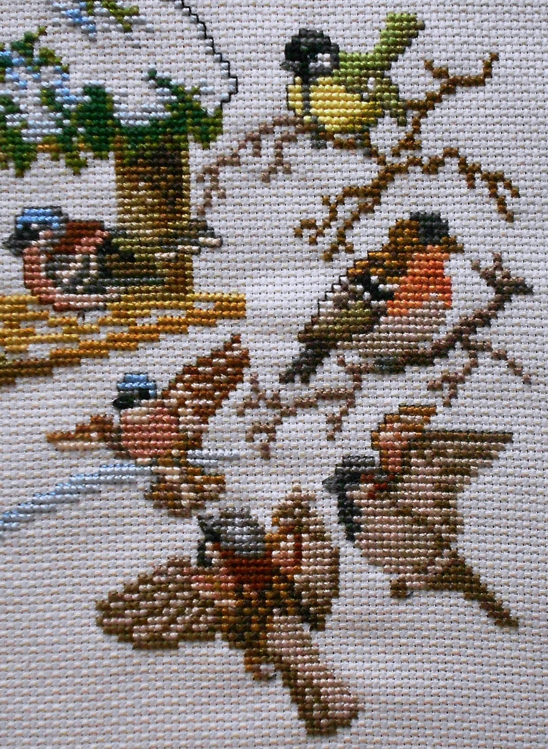 Exquisite Finished Completed Counted Cross Stitch Picture